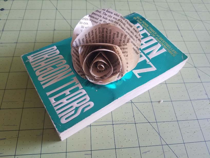 Upcycled Paper Flowers | Upcycled Books
