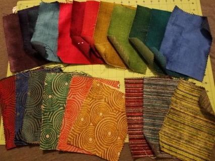 Patchwork Vest - Fabric Samples - Solids vs Patterns